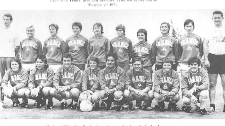 Primer partido internacional oficial de fútbol femenino
