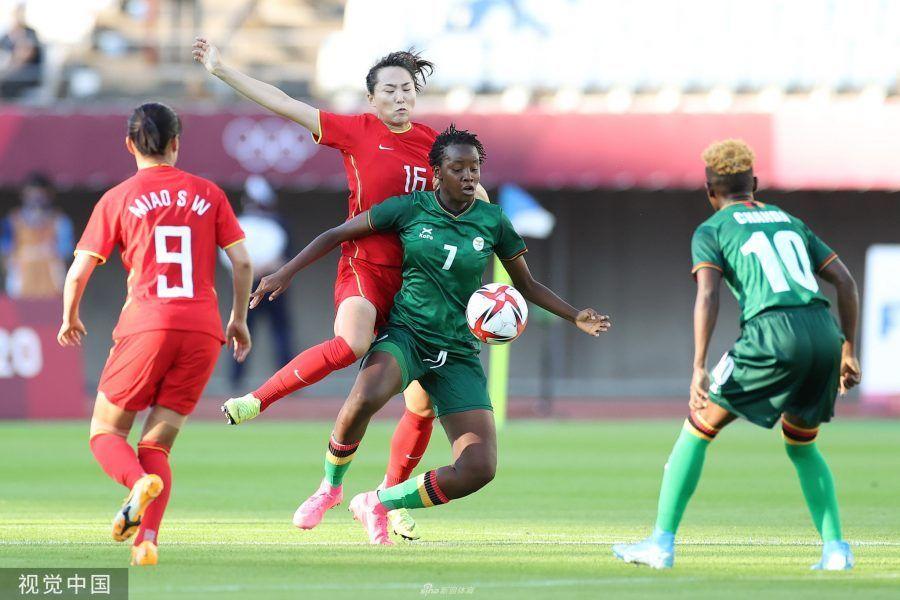 China Women's Football China y Zambia