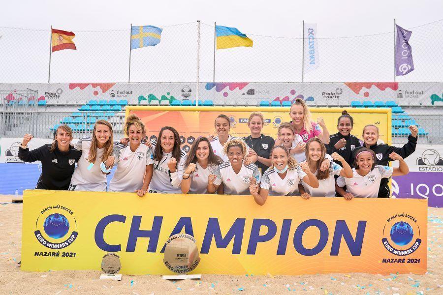 El Madrid CFF conquista Europa en fútbol playa
