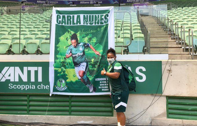 Homenagem para a 𝕒𝕣𝕥𝕚𝕝𝕙𝕖𝕚𝕣𝕒 Carla Nunes : @Palmeiras