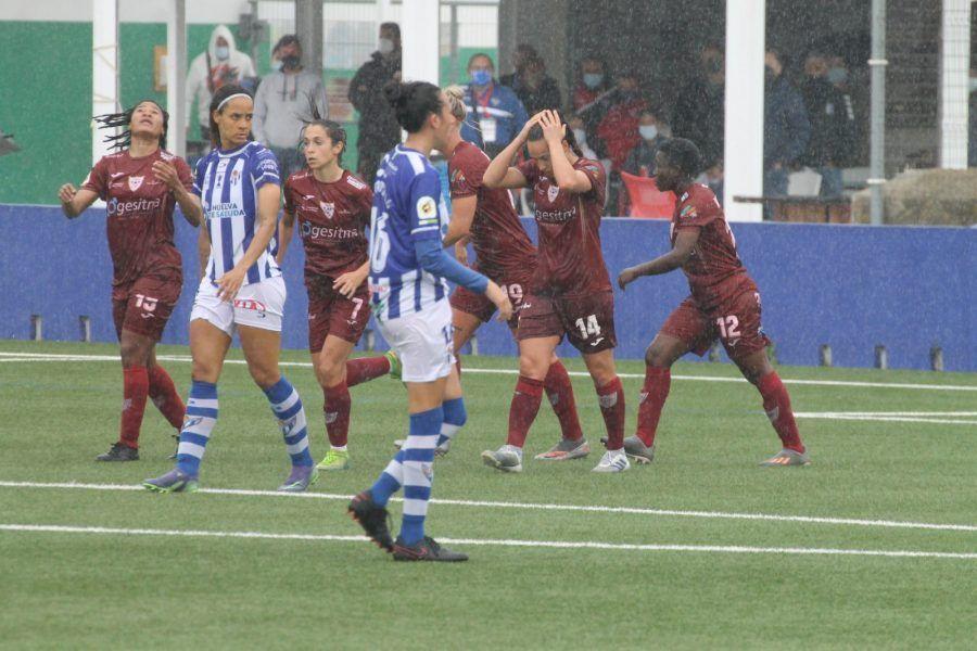 Victoria del Sporting de Huelva ante el colista EDF Logroño