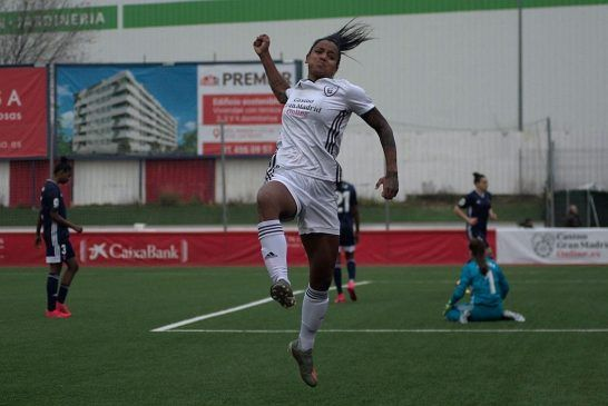 Geyse Ferreira, pletórica con su gol.